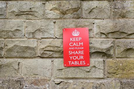 Engagement Photography in Ilkley Keep Calm Sign