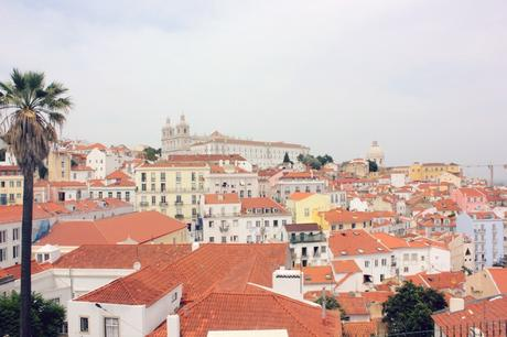 Lisbon rooftop view