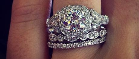 Antique style halo stack