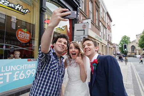 Wedding Selfie with a stranger in York