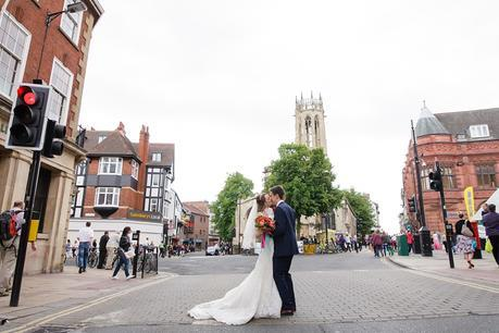 York Wedding Photography burde with colourful bouquet