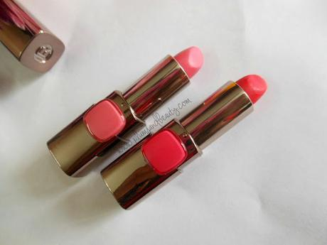 L'Oreal Paris Moist Mat Lipsticks : Cherry Crush, Flaming Kiss (Review, Photos, Swatches)