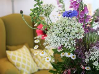 Tuckshop Flowers and More by Design collaboration for British Flowers Week 2015.
