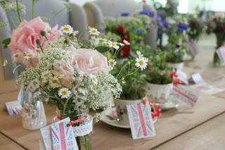 Tuckshop Flowers pop up shop with More By Design.  British Flowers Week 2015