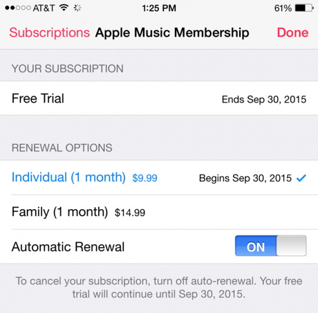 How To Turn Off Automatic Renewal For Apple Music Subscription