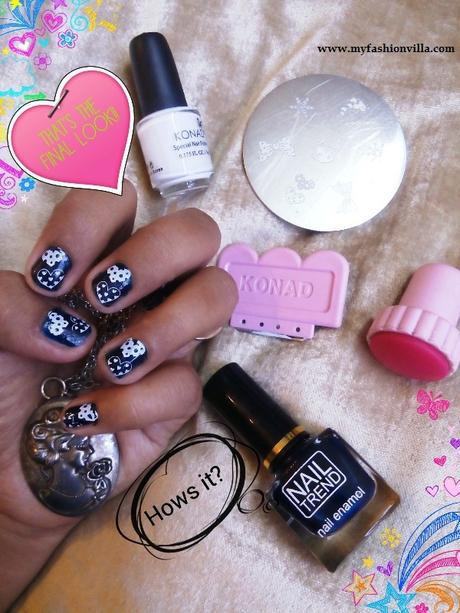 Konad Stamping Nail Art Tutorial With Video For Short Nails
