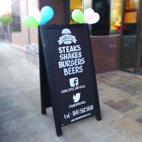 Steak Cattle & Roll - Sandwich Board