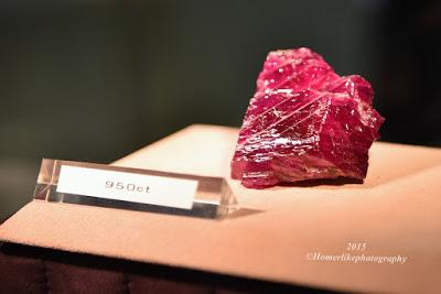 Rare 950-ct Natural Unheated Burmese Ruby Rough at the Singapore International Jewelry Expo 2015