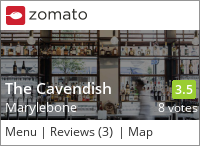 Click to add a blog post for The Cavendish on Zomato