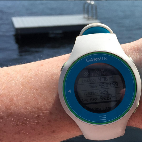 Run by the Lake via @FitfulFocus