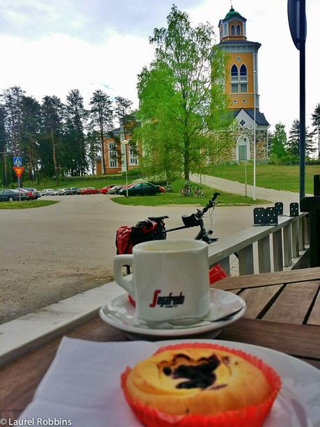 Finnish food, gluten-free muffin at cafe