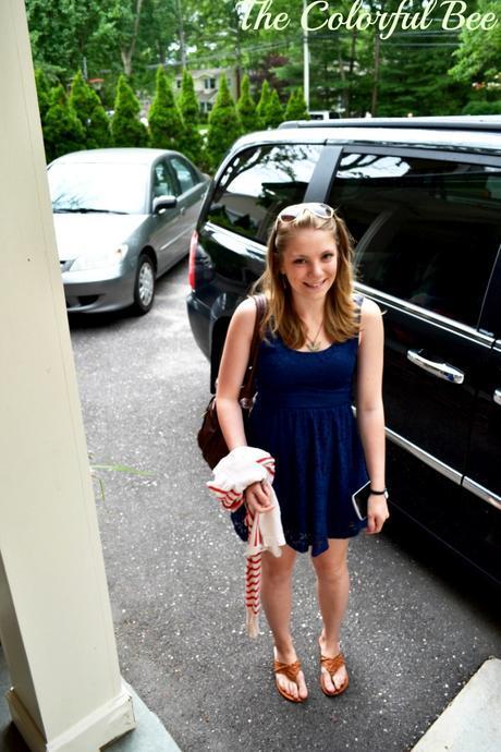 My granddaughter Meghan arriving