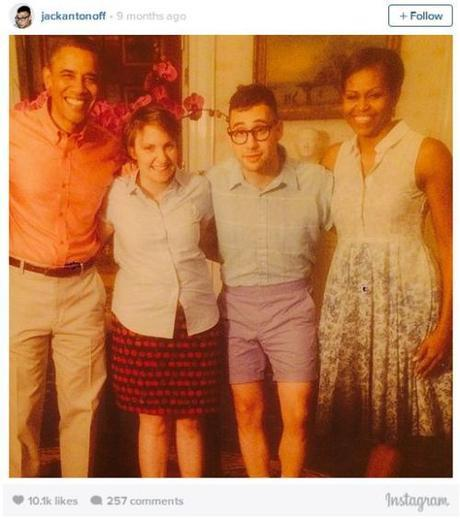 Lena Dunham's double date with Obama