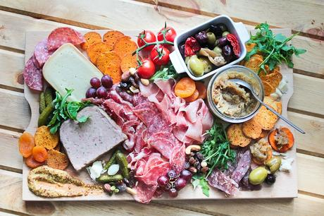 charcuterie - cheese meat board