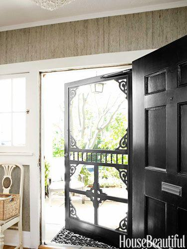 Designer Tobi Tobin commissioned a new screen door for some Victorian charm.