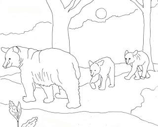 Black Bear Coloring Page  Paperblog
