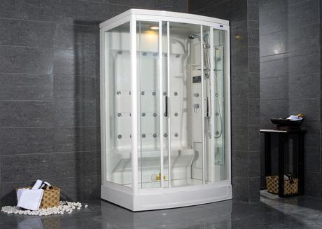 livia steam shower water saving efficient conservation bathroom modern design