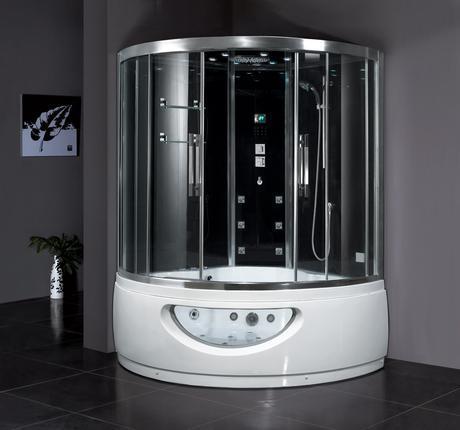 claudius steam shower whirlpool bathtub water efficient saving conservation bathroom modern design