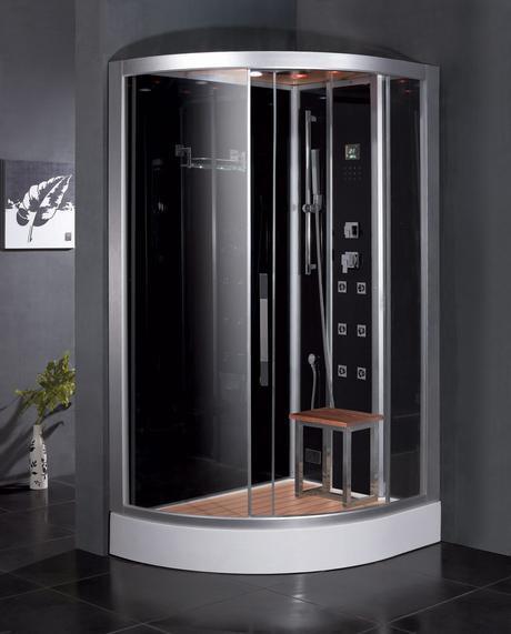 florian premium steam shower water saving efficient conservation modern bathroom design bench
