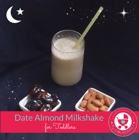 Date Almond Milkshake for Toddlers
