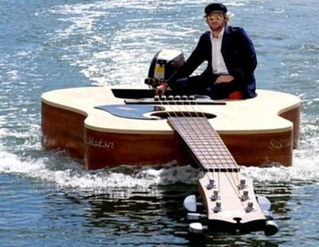 Guitar Shaped Boat