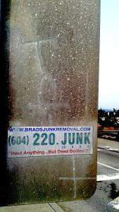 "Local junk removal man Brad will ""Haul anything... but dead bodies!!!"