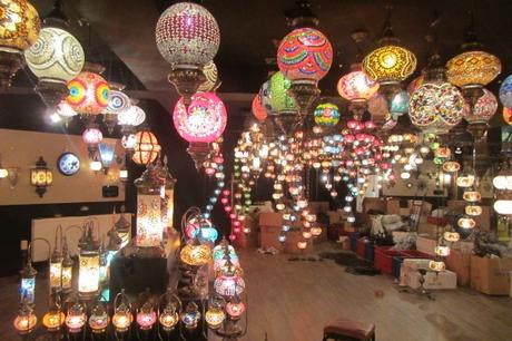 Building a Travel Home: Hanging Our Turkish Lamp