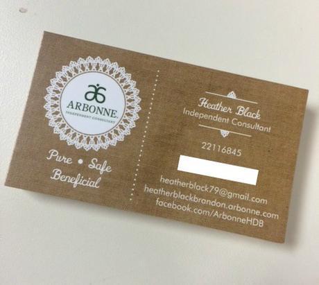 arbonne-business-cards