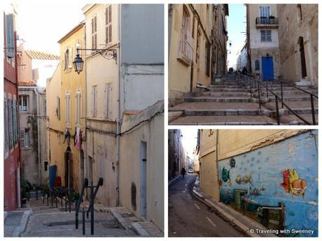 The streets of Marseille's old district, Le Panier