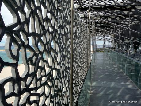 Intriguing latticework design of the MuCEM exterior