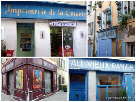 Colorful facades of Le Panier