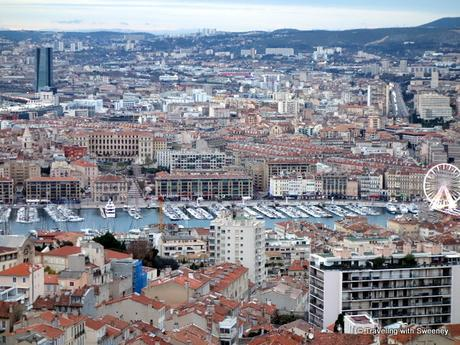 View of Marseille from the highest point in the city