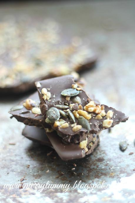 Chocolate Bark: Nuts and Seeds Chocolate Bark: Healthy Snack