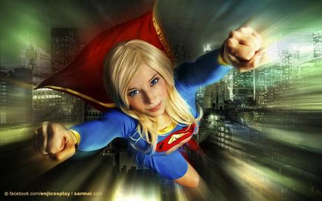 supergirl_above_the_city_by_enjinight-d4gfvqk