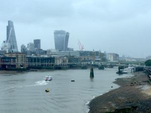 the thames from Blackfriars station yesterday
