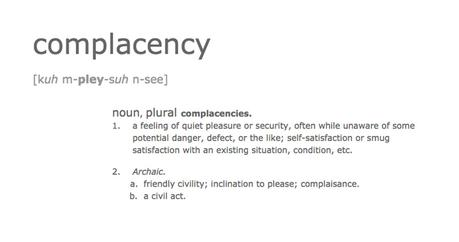complacency_definition