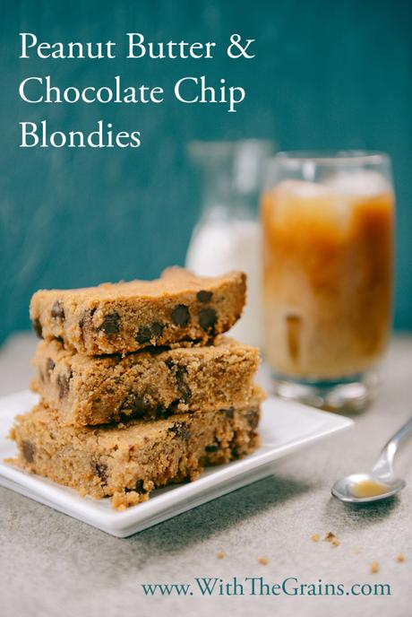 Peanut Butter Chocolate Chip Blondies by With The Grains 01