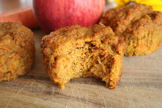 Carrot Apple Spice Muffins (Gluten and Refined Sugar Free)