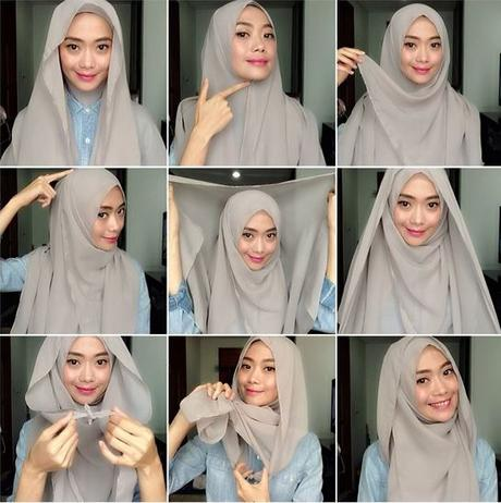 Tutorial 5 Easy To Wear Square Hijab Styles In Photos Paperblog