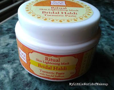 Auravedic Bridal Haldi Skin Lightening Mask Review