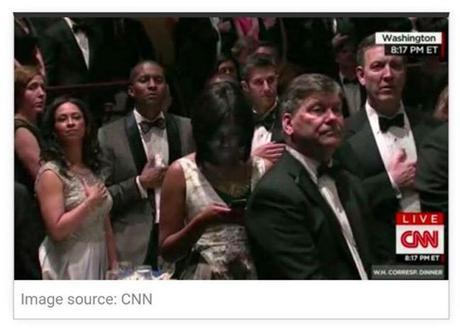 woman texting during pledge of allegiance