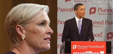 Planned Parenthood CEO Cecile Richards with Obama