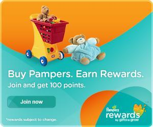 Sign up to Pampers Gifts to Grow Program