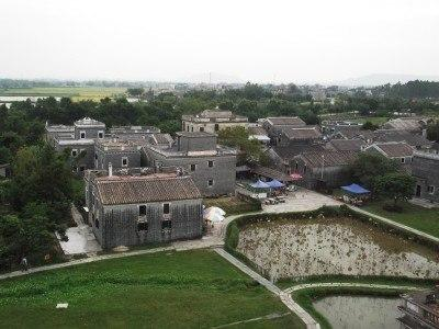 View from the top of the Kaiping Diaolou in Zili Village