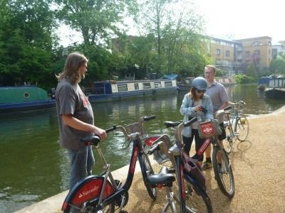 Hiring Boris Bikes and cycling alongside the canals of London