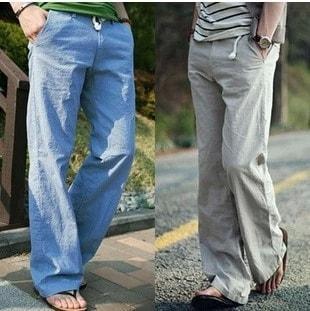 Mens linen pants-min