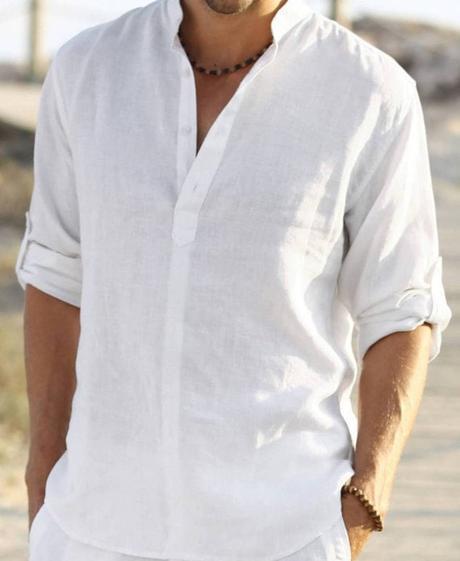 white linen shirt-min
