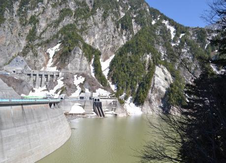 Kunobe Dam, Alpine Route by JR Pass Japan Rail