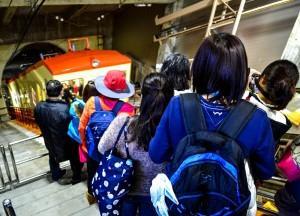 Boarding Trolley Bus, Alpine Route by JR Pass Japan Rail