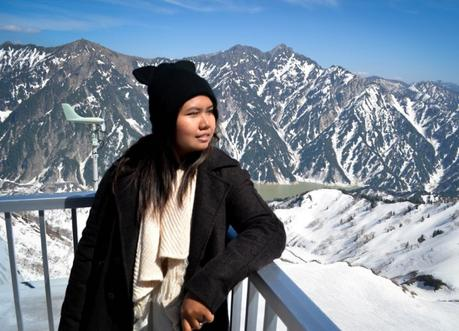 Fanfan at Viewpoint , Alpine Route by JR Pass Japan Rail